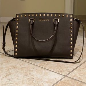 Michael Kors Selma Studded Leather Purse